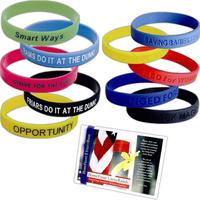 Custom Debossed Silicone Bracelet, Wristband