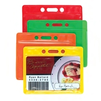 COLOR BACK HORIZONTAL CARD HOLDER