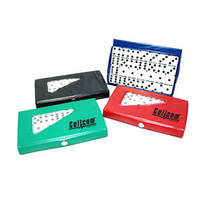 Compact 28 Piece Double Six Domino Game Set - 657