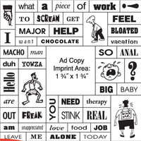 49 Words Message Magnet w/ Square