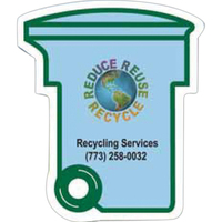 Go Green Recycling Bin Magnet