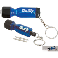 Mini Flashlight Keychain with Screwdriver