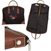 Suit Bag with Leatherette Trim