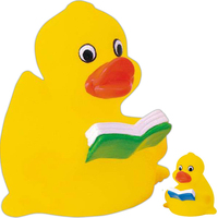Rubber learning duck