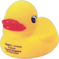 Squeaking rubber duck