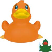 Orange rubber duck