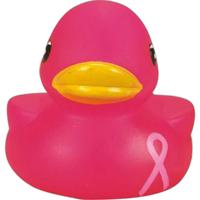 Pink awareness rubber duck