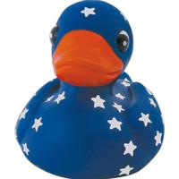 Blue rubber star gazer duck