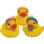Rubber baby bonnet duck