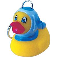 Rubber diver duck keychain