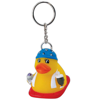 Rubber pool party duck keychain