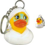 Rubber spa duck key chain