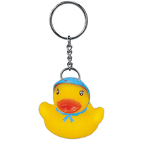 Blue bonnet rubber duck key chain