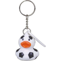 Soccer ball duck key chain
