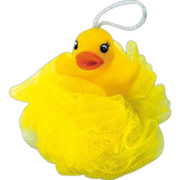 Rubber duck shower puff
