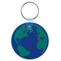 Blue globe key chain