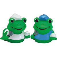 Mini rubber golfer frog