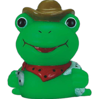 Mini rubber cowboy frog