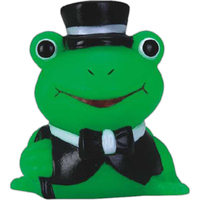 Mini rubber high society frog