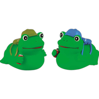 Rubber hiker frog toy