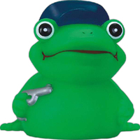 Rubber police frog