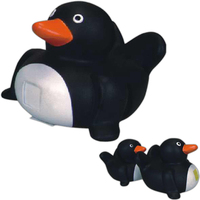 Rubber penguin family toy