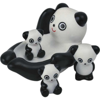 Panda bear family toy
