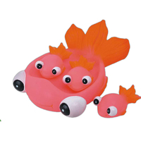 Rubber fish family toy