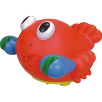 Squirting rubber lobster toy
