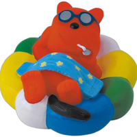 Rubber bear squeaking toy