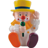 Squeaking rubber clown toy