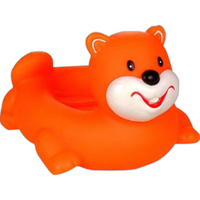 Orange beaver soap dish