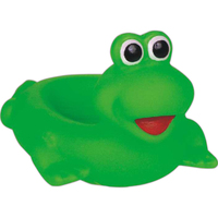 Rubber green frog soap dish