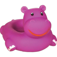 Rubber hippo soap dish