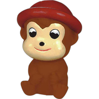 Squeaking rubber monkey toy