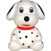 Squeaking rubber Dalmatian toy