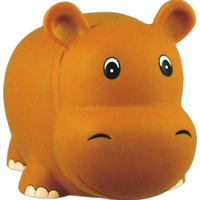 Rubber hippo toy