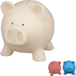 Rubber pig coin bank