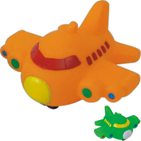 Rubber vehicle shaped toy