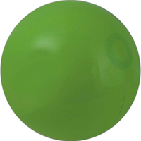 Solid green beach ball