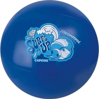 Solid blue beach ball