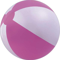 Pink and white beach ball