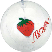 Clear beach ball with strawberry