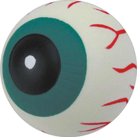 Eyeball shaped stress reliever