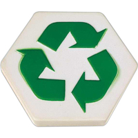 Recycle hexagon stress reliever