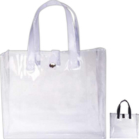 Clear weekender bag