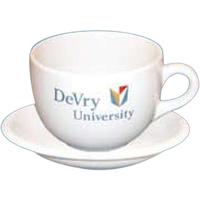 Vitrified latte mug