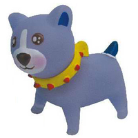 Rubber dog squeaking toy