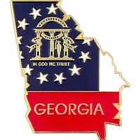 State - Georgia State Shape Lapel Pin