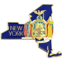 State - New York State Shape Lapel Pin